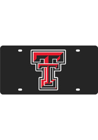 Texas Tech Red Raiders Black Letter Logo Car Accessory License Plate