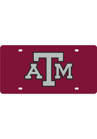 Texas A&M Aggies Maroon Letters Logo Car Accessory License Plate