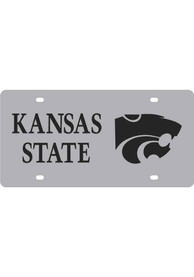 K-State Wildcats Silver Team Name, Logo Car Accessory License Plate