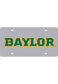 Baylor Bears Silver School Name Car Accessory License Plate
