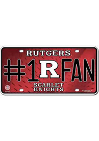Rutgers Scarlet Knights Red Fan Logo Car Accessory License Plate