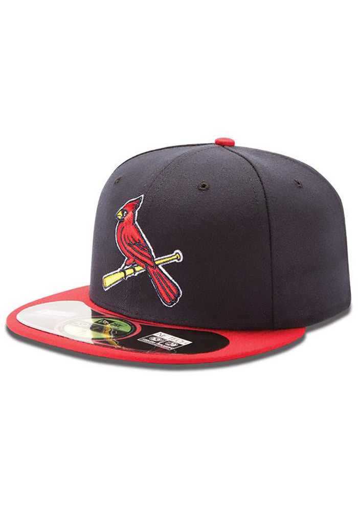 New Era St Louis Cardinals Mens Navy Blue Alt 2 AC 59FIFTY Fitted Hat - Image 1