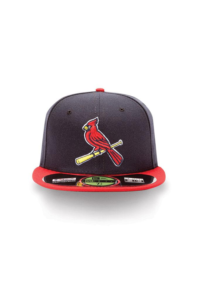 New Era St Louis Cardinals Mens Navy Blue Alt 2 AC 59FIFTY Fitted Hat - Image 2