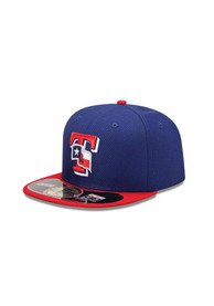 Texas Rangers New Era Diamond era Fitted Hat - Blue