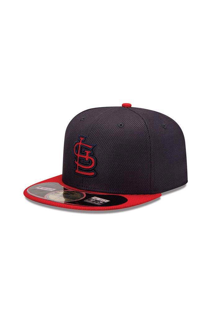 New Era St Louis Cardinals Mens Navy Blue 5950 Diamond Fitted Hat - Image 1