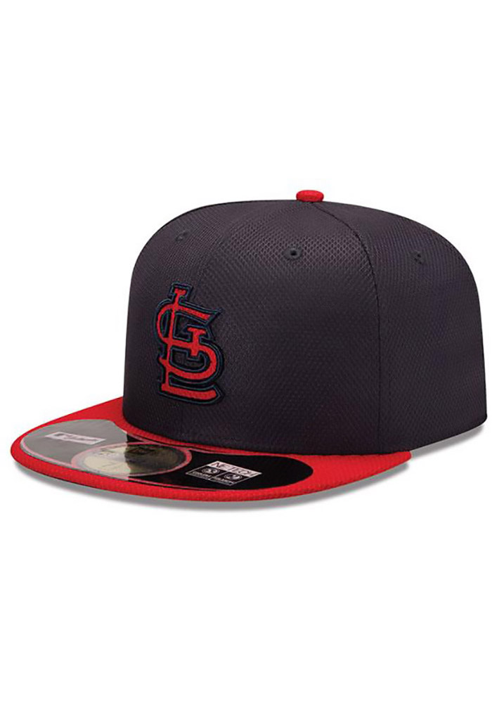 New Era St Louis Cardinals Mens Navy Blue 5950 Diamond Fitted Hat - Image 2