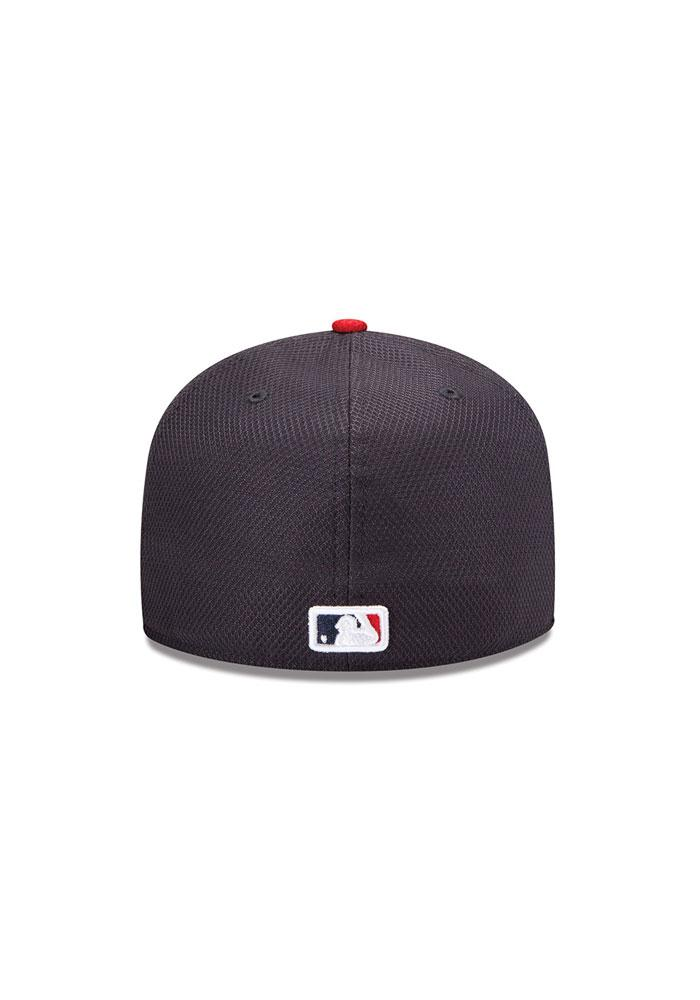 New Era St Louis Cardinals Mens Navy Blue 5950 Diamond Fitted Hat - Image 4