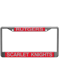 Rutgers Scarlet Knights Silver Chrome License Frame