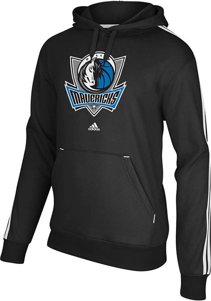 Adidas Dallas Mavericks Mens Black Primary Logo Long Sleeve Hoodie - Image 1