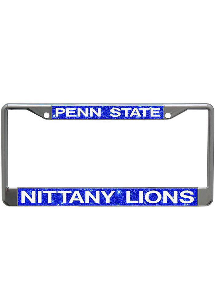 Penn State Nittany Lions Silver Chrome License Frame - Image 1