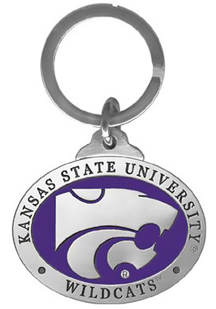 K-State Wildcats Purple Pewter Keychain - Image 1