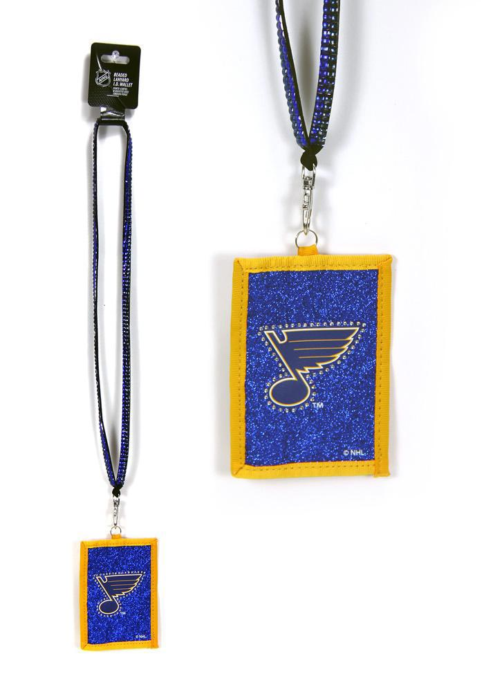 St Louis Blues Wallet and Beaded Lanyard - Image 1