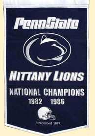 Penn State Nittany Lions 24x38 Dynasty Banner
