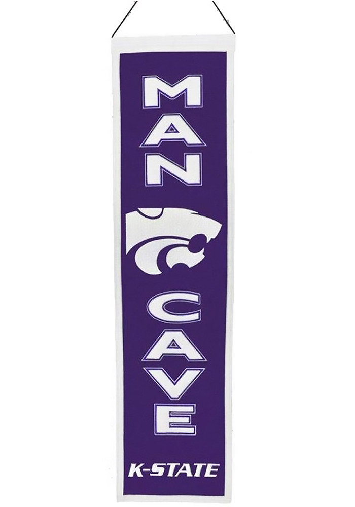 K-State Wildcats 8x32 Man Cave Banner - Image 1