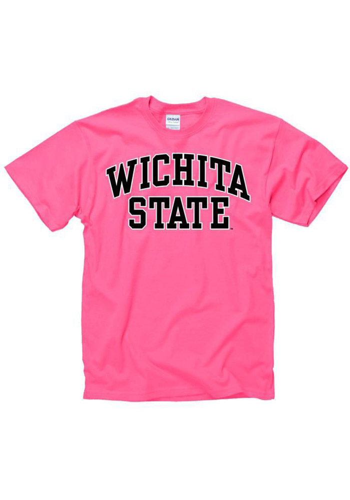 Wichita State Shockers Womens Pink Fashion Practice Short Sleeve Unisex Tee - Image 1