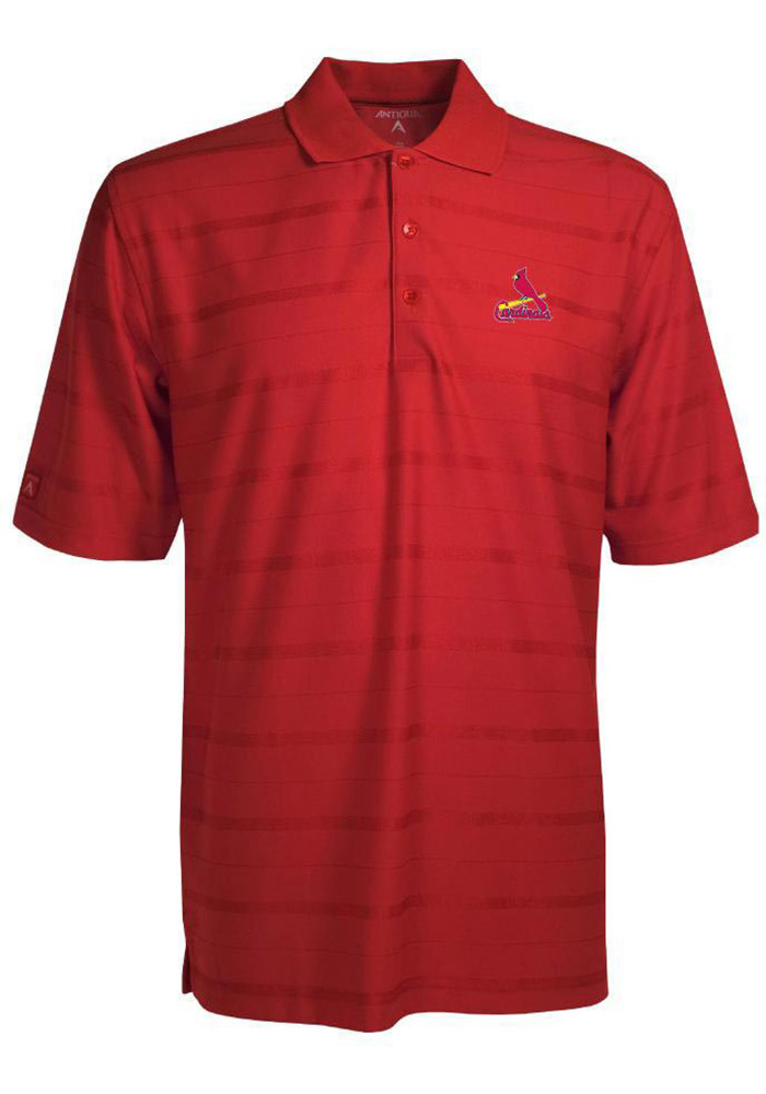Antigua St Louis Cardinals Mens Red Tone Short Sleeve Polo - Image 1