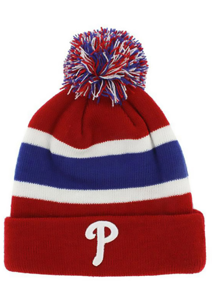 '47 Philadelphia Phillies Red Breakaway Cuffed Mens Knit Hat - Image 1