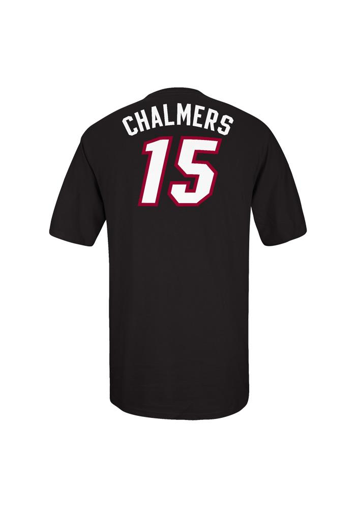 Mario Chalmers Miami Heat Mens Black Name And Number Short Sleeve Player T Shirt - Image 3