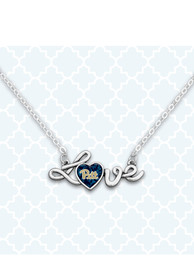 Penn State Nittany Lions Womens Love Script Necklace - Silver