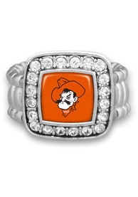 Oklahoma State Cowboys Womens Ring - Silver