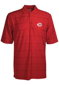 Antigua Cincinnati Reds Red Tone Short Sleeve Polo Shirt