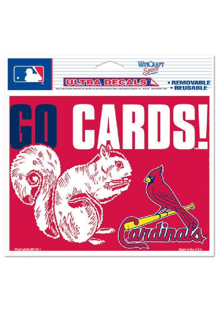 St Louis Cardinals 5x6 Squirrel Decal - Image 1