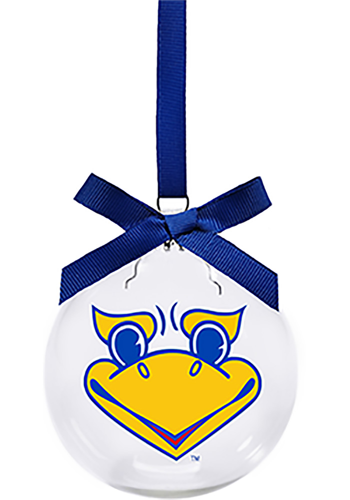 Kansas Jayhawks Jayhawk Face Ornament - Image 1