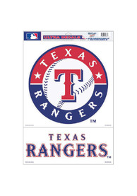 Texas Rangers 11x17 Multi-Use Auto Decal - Red