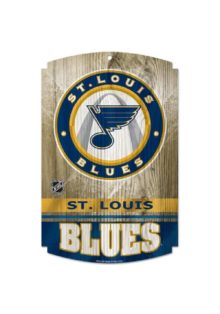 St Louis Blues 11X17 Wood Sign - Image 1