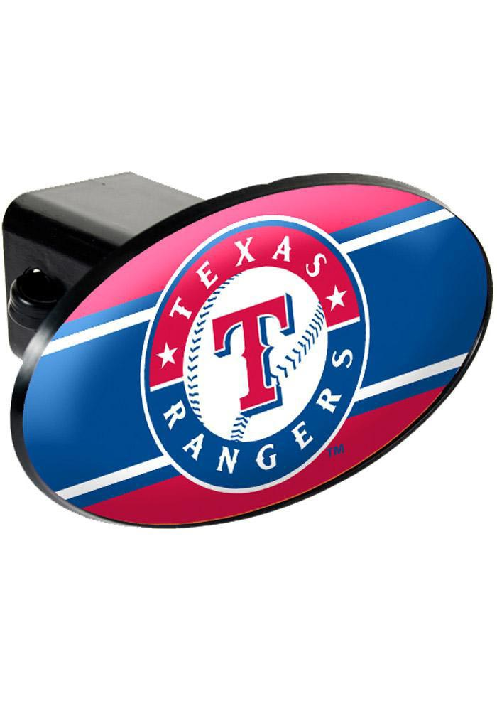 Texas Rangers Plastic Oval Car Accessory Hitch Cover - Image 1