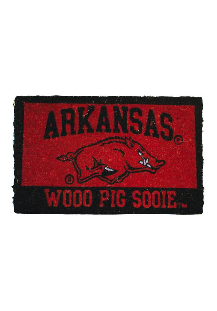 Arkansas Razorbacks Red Door Mat - Image 1