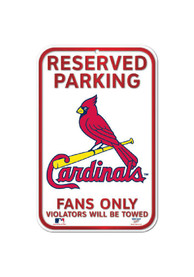 St Louis Cardinals Reserved Parking Sign
