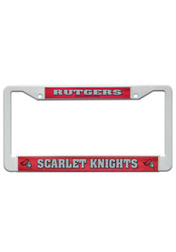 Rutgers Scarlet Knights White Plastic License Frame