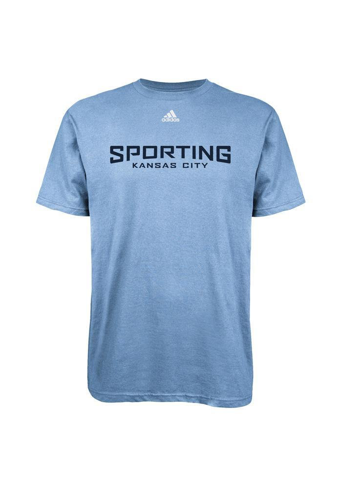 Adidas Sporting KC Mens Light Blue Primary One Short Sleeve Tee - Image 1
