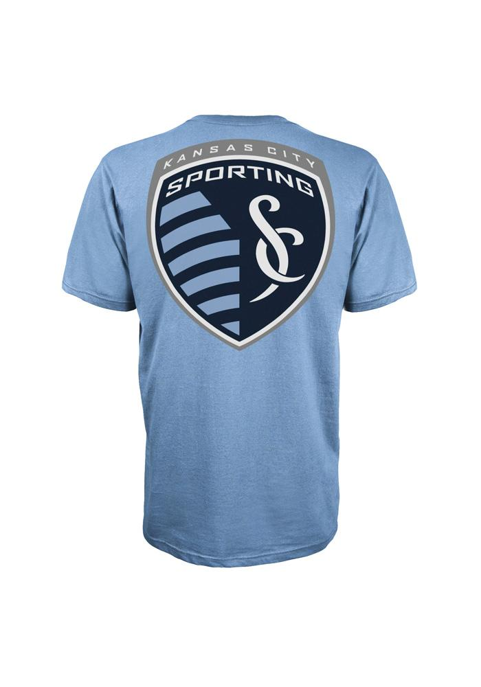 Adidas Sporting KC Mens Light Blue Primary One Short Sleeve Tee - Image 2