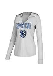 Adidas Sporting Kansas City Womens Grey Go Sporting Hoodie