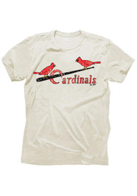 Stan Musial St Louis Cardinals Ivory Tri-Blend Fashion Player Tee