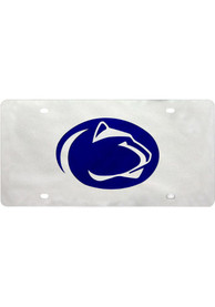 Penn State Nittany Lions Silver Mascot Logo Car Accessory License Plate