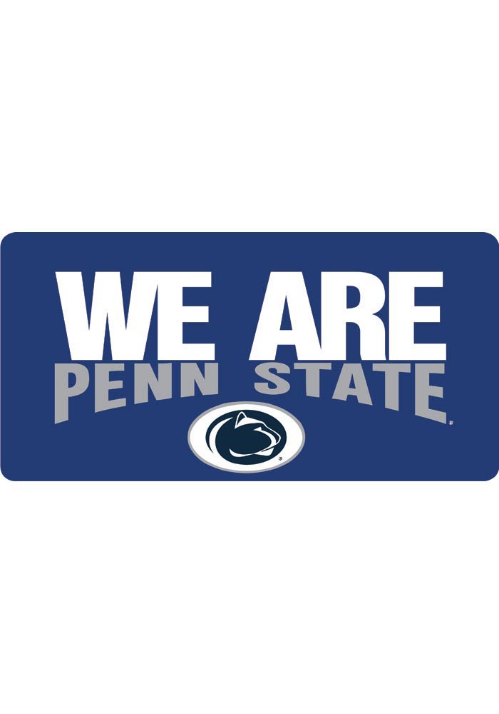 Penn State Nittany Lions Blue Slogan Car Accessory License Plate - Image 1