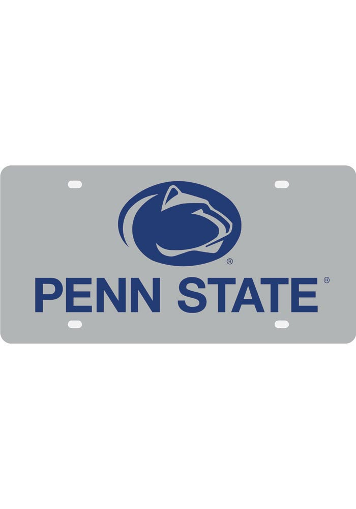 Penn State Nittany Lions Silver School Name and Logo Car Accessory License Plate - Image 1