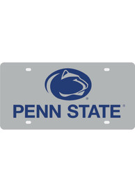 Penn State Nittany Lions Silver School Name and Logo Car Accessory License Plate
