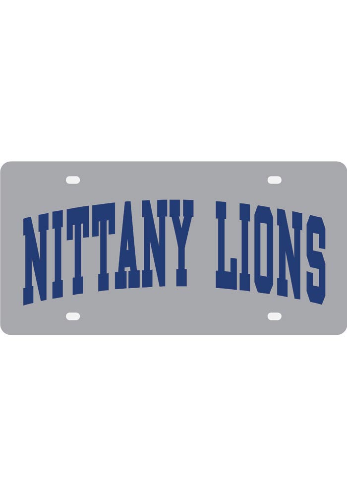 Penn State Nittany Lions Silver Nickname Car Accessory License Plate - Image 1