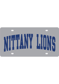 Penn State Nittany Lions Silver Nickname Car Accessory License Plate