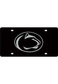 Penn State Nittany Lions Black Mascot Logo Car Accessory License Plate