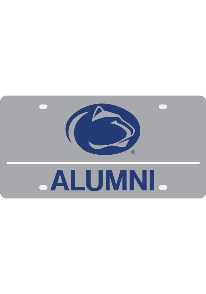Penn State Nittany Lions Silver Alumni Car Accessory License Plate - Image 1
