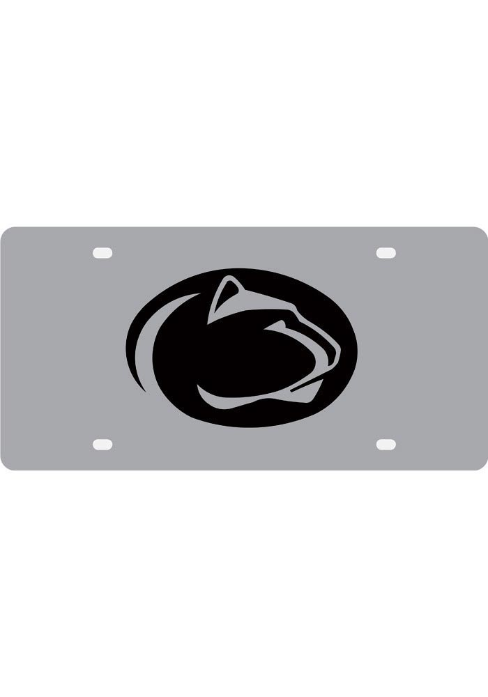 Penn State Nittany Lions Silver Mascot Logo Car Accessory License Plate - Image 1
