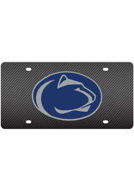 Penn State Nittany Lions Carbon Fiber Mascot Logo Car Accessory License Plate