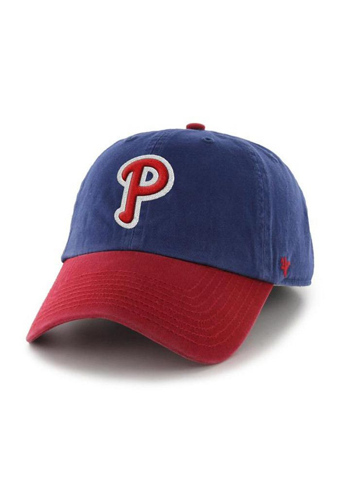 '47 Philadelphia Phillies Mens Blue Franchise Fitted Hat - Image 1