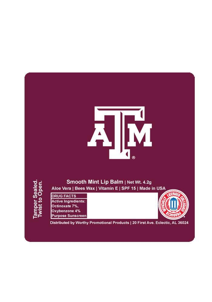 Texas A&M Aggies Smooth Mint Lip Balm - Image 1