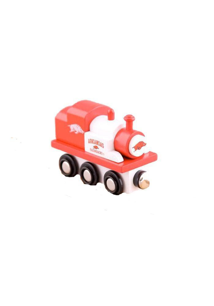 Arkansas Razorbacks Red and White Wooden Train - Image 1